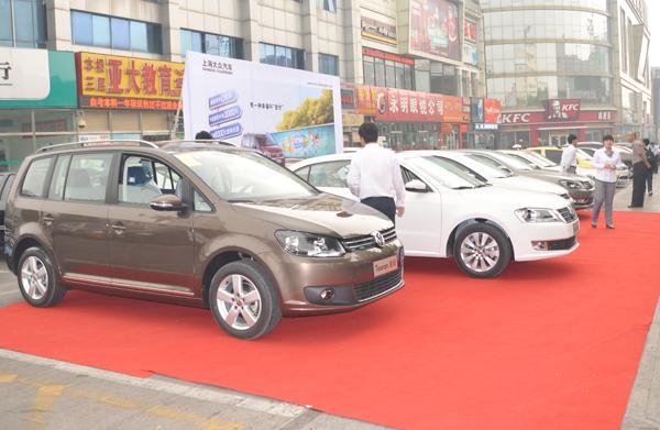 上海大众室外车展主背景设计与施工